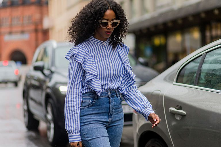 Ciufulit blouse and jeans street style fashion
