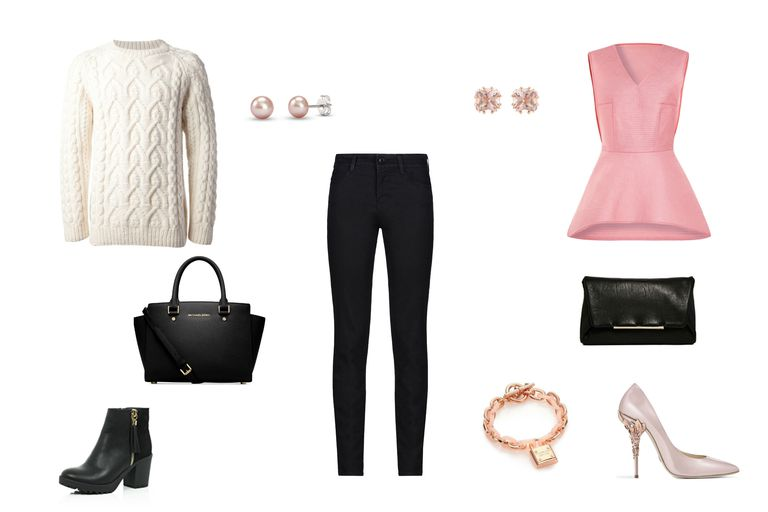 दिन to night outfit with black jeans