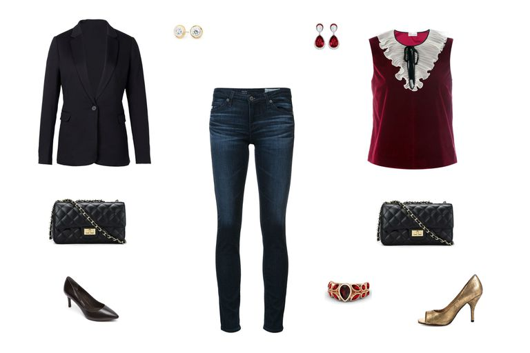 दिन to night outfit idea with skinny jeans