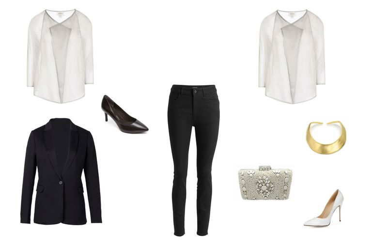 दिन to night outfit with black skinny jeans