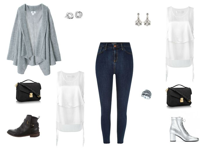 दिन to night outfit in skinny jeans