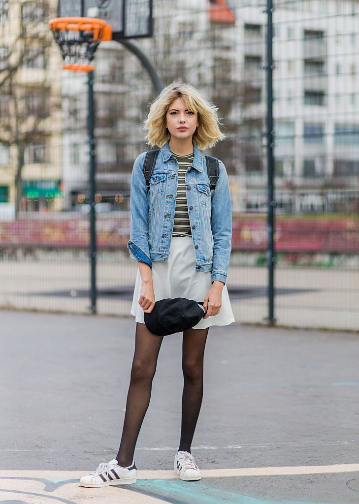 Улица style in a denim