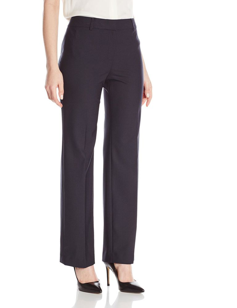 जोन्स New York Washable Wool-Blend Flat-Front Pant