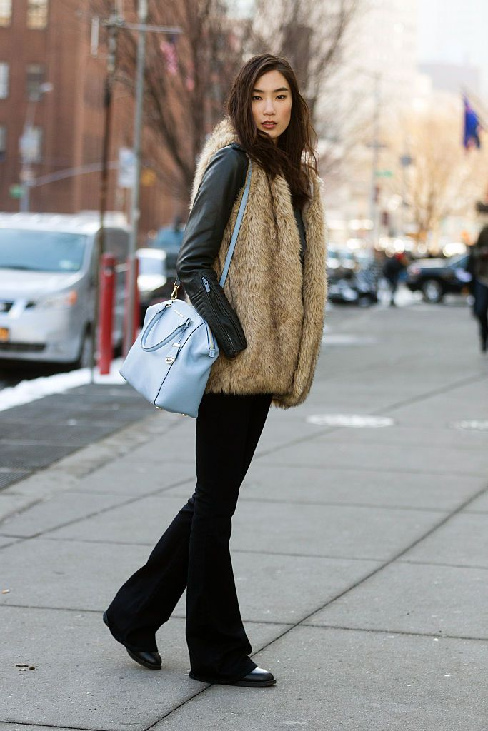 Fellobbanás jeans and faux fur