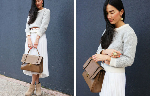 alb Midi Skirt Winter Outfit Idea