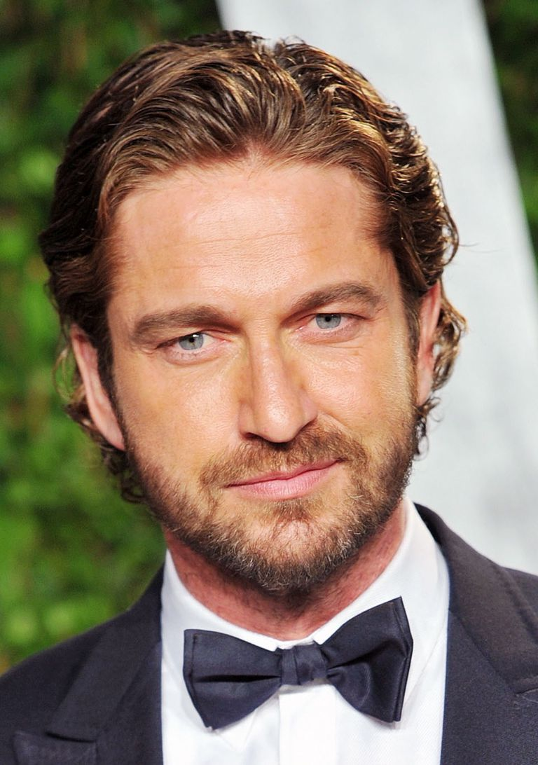 Gerard Butler with curly hair