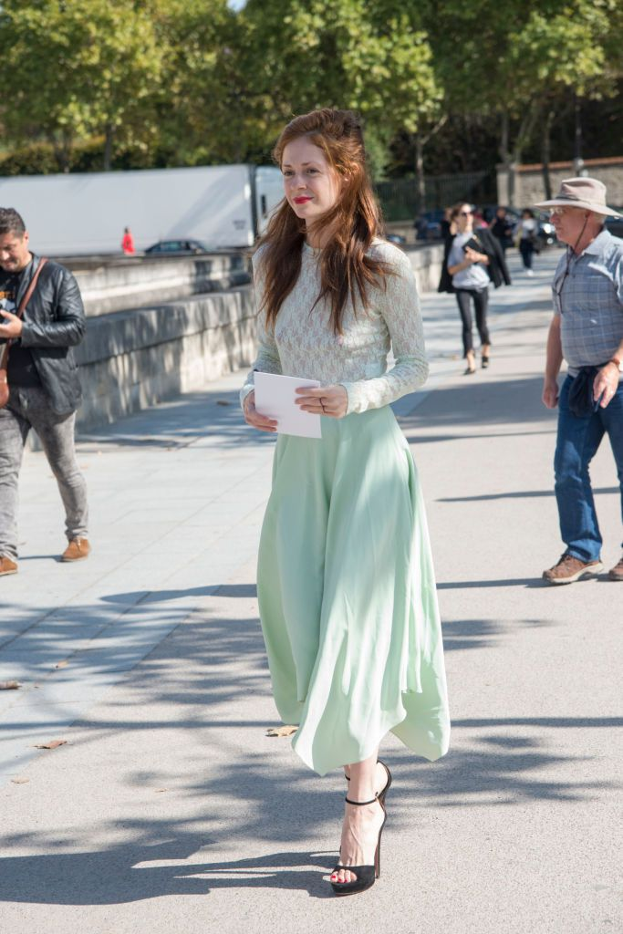 Улица Style Head to Toe Green Outfit