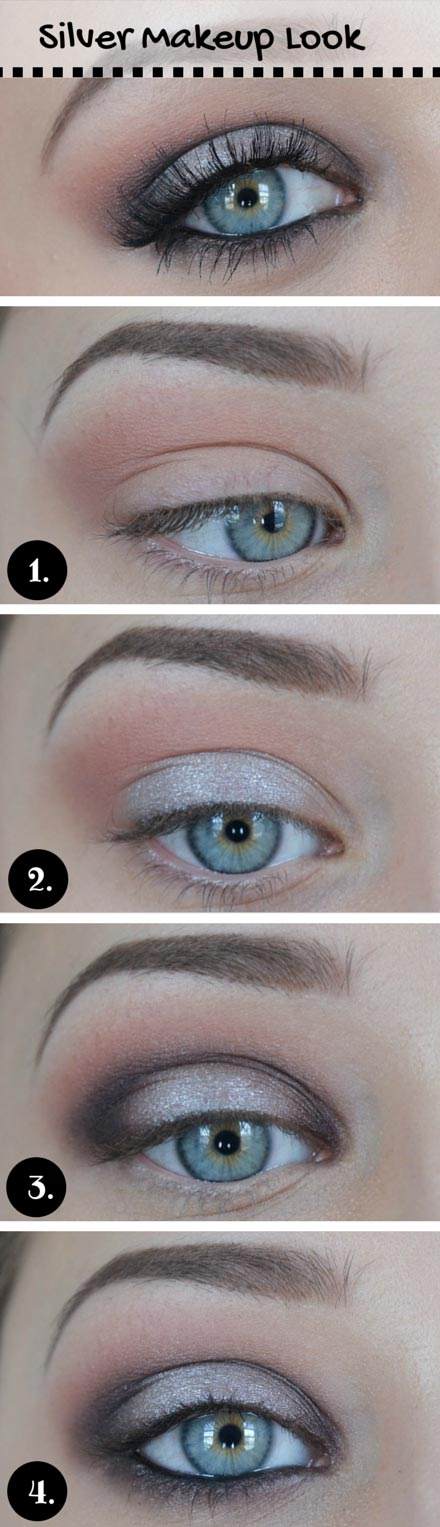 เงิน Makeup Look for Blue Eyes