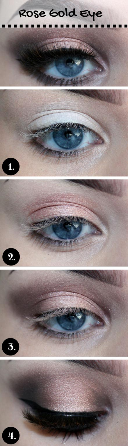 Росе Gold Makeup Tutorial for Blue Eyes
