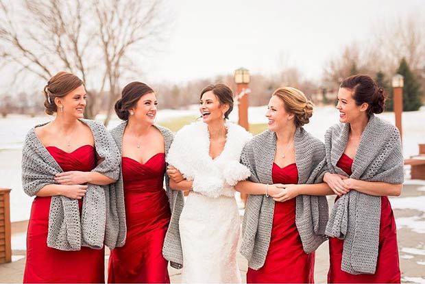 ispleten Scarf Cover Ups for Winter Bridesmaids
