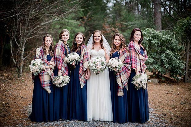 Zima Bridesmaids Flannel Cover Ups