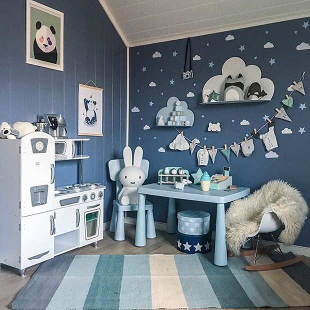 Модеран Blue Playroom Idea for Boys