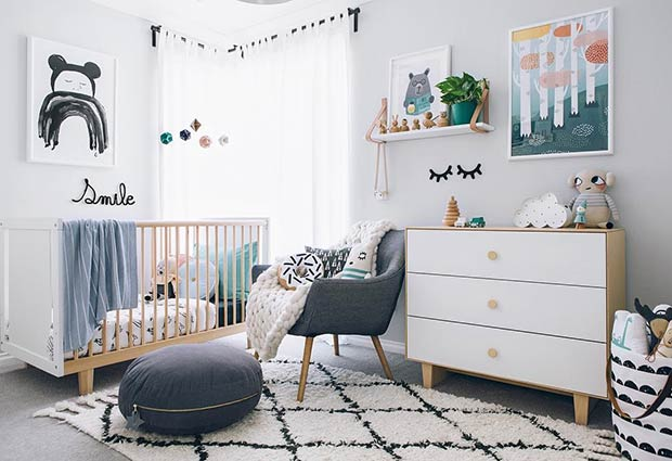 Пол Neutral Modern Nursery Idea