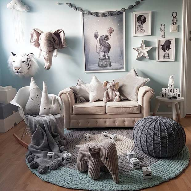 Модеран Safari Playroom Idea for Toddlers