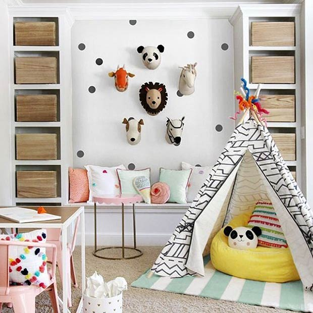 Разнобојан Animal Playroom Idea for Boys and Girls