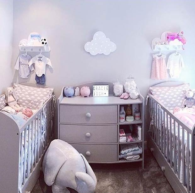 Греи Nursery Idea for Twins