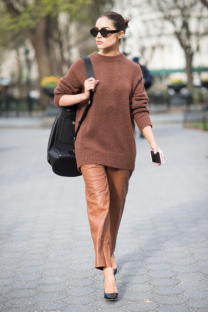 Vinter street style in shades of brown