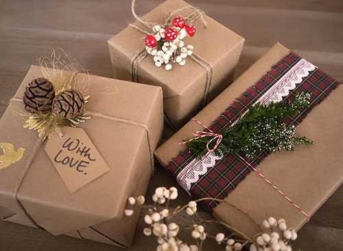भूरा Paper Christmas Wrapping Ideas
