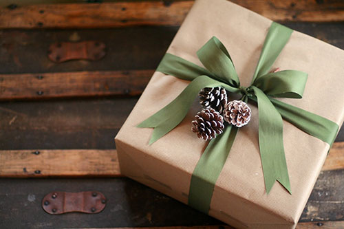 सरल Pine Cone Brown Paper Gift Wrap
