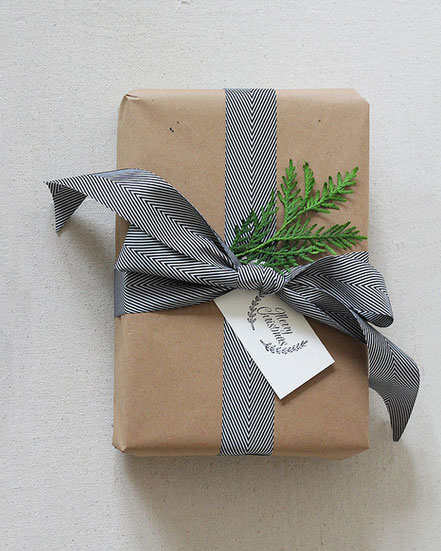 क्राफ्ट Paper Ribbon Christmas Gift Wrapping
