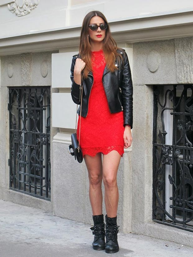 Едги Red Lace Dress Outfit