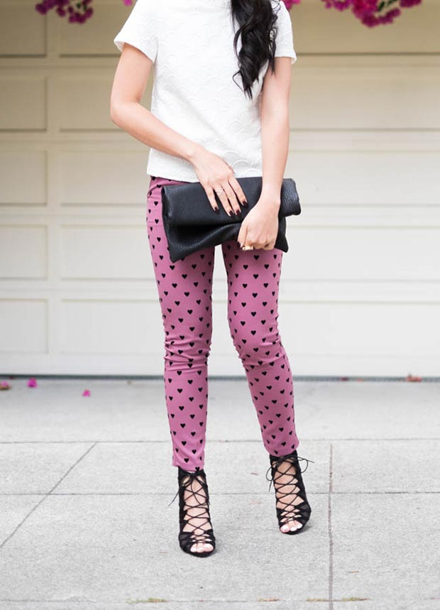 Срце Trousers Valentines Day Outfit
