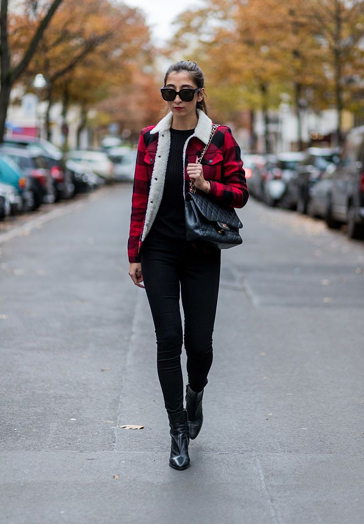 utca style jeans and plaid jacket