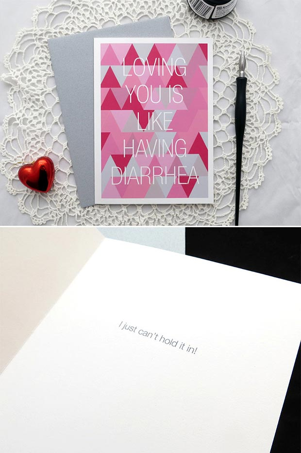 Ljubim You is Like Valentines Day Card