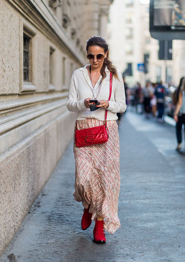 utca style in a maxi skirt