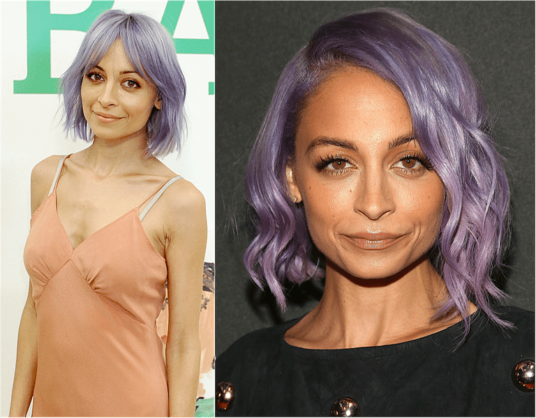 Nicole Richie's bob, two ways