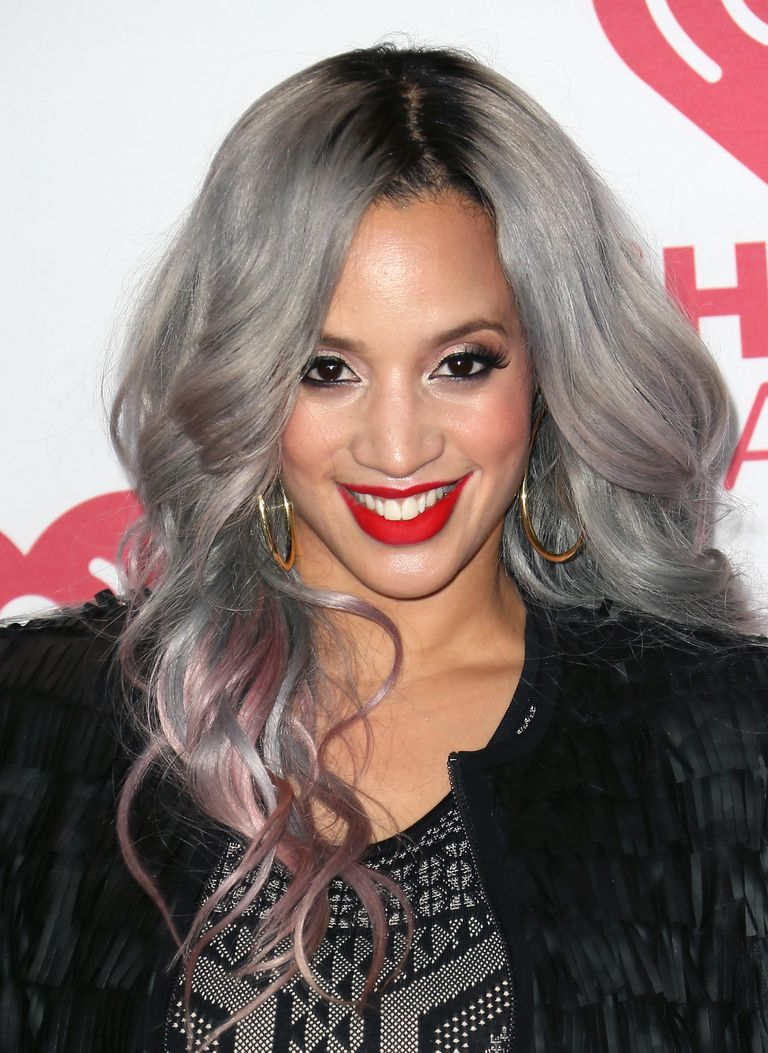 Dascha Polanco gray and pink hair