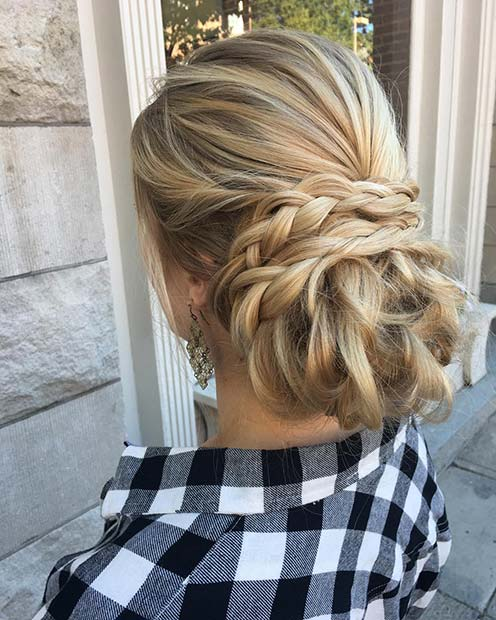 Елегантно Braided Updo for Beautiful Braided Updos