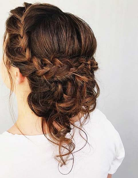 Плетени Bridal Updo for Beautiful Braided Updos