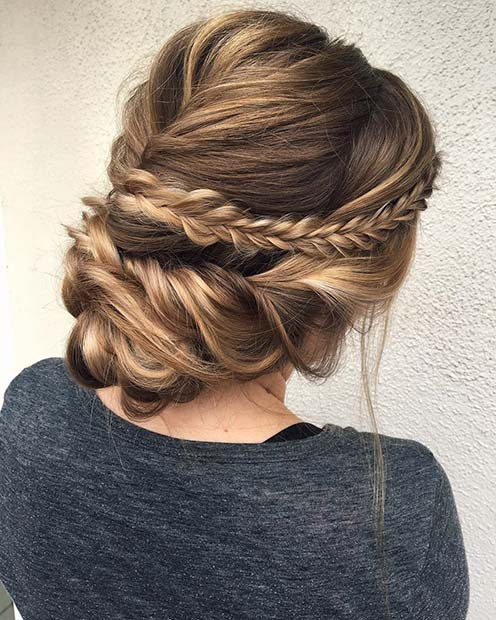 Софт and Romantic Braided Updo for Beautiful Braided Updos