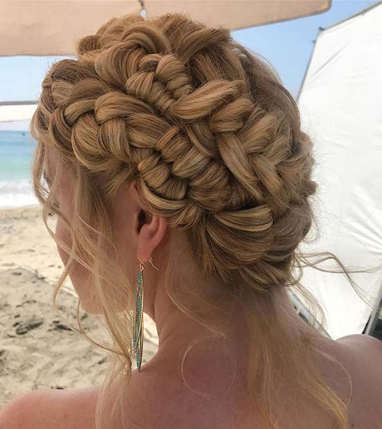 Мулти Braid Updo for Beautiful Braided Updos
