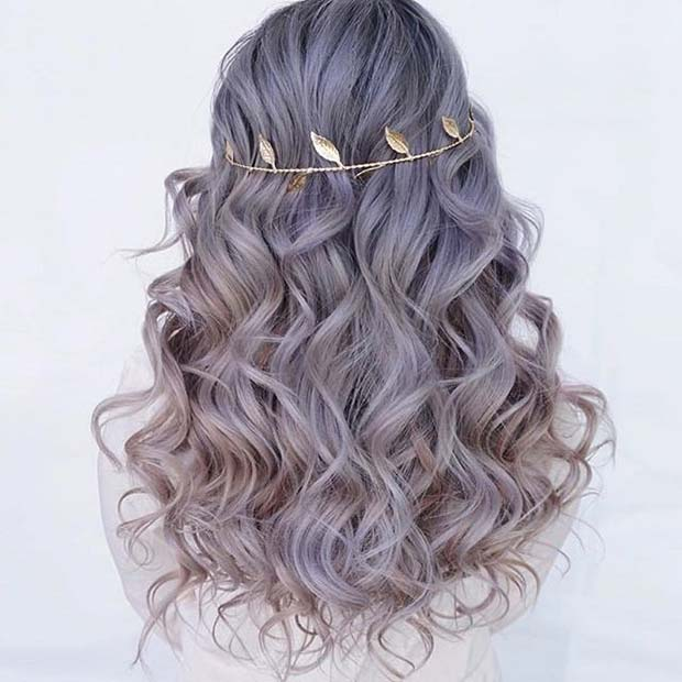 Creț Headband Prom Hair Idea