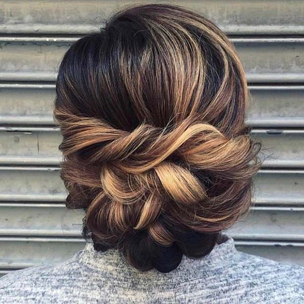 Împletit Updo Hair Idea for Prom