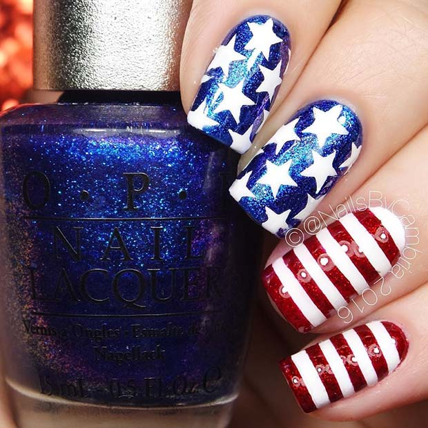 แวว 4th of July Nails