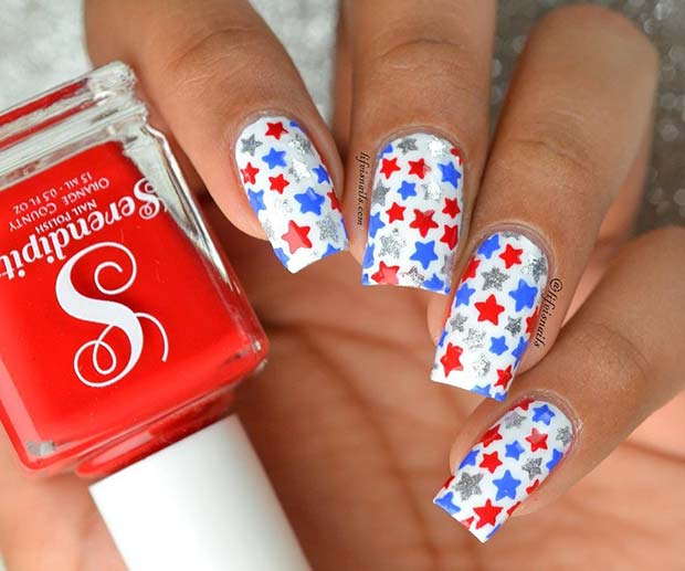 4. of July Star Nails