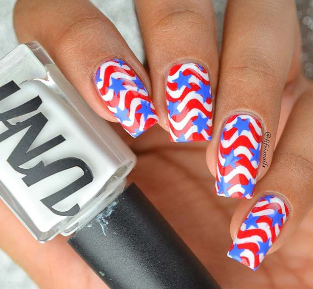 Egyedi and Creative 4th of July Nails