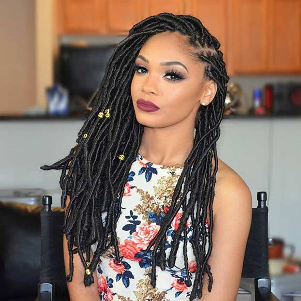 faux Locs Protective Hairstyle