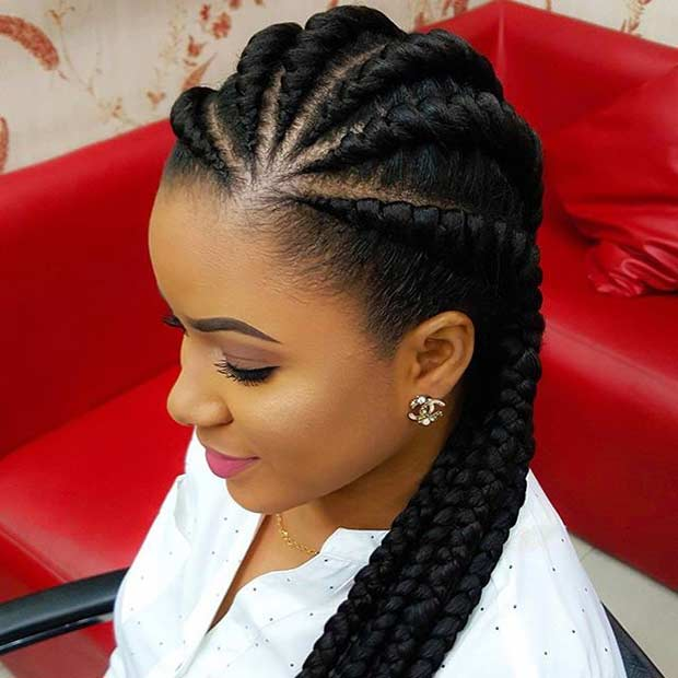 घाना Braids Protective Hairstyle for Black Hair