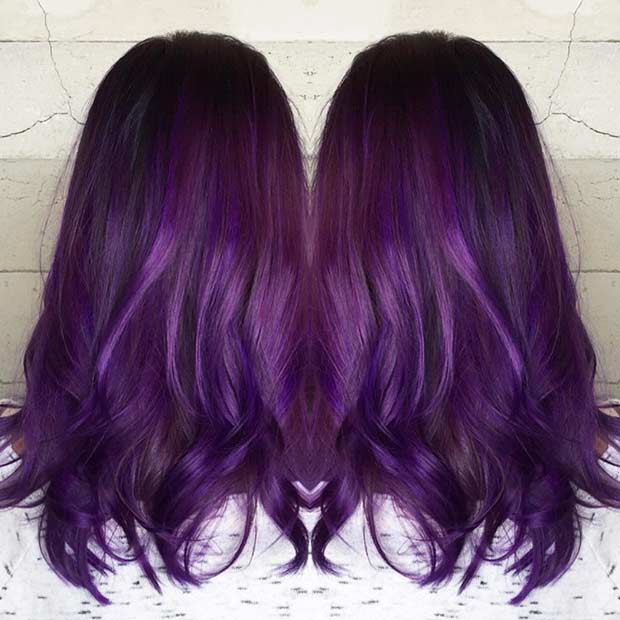 Druva Purple Hair Color Idea
