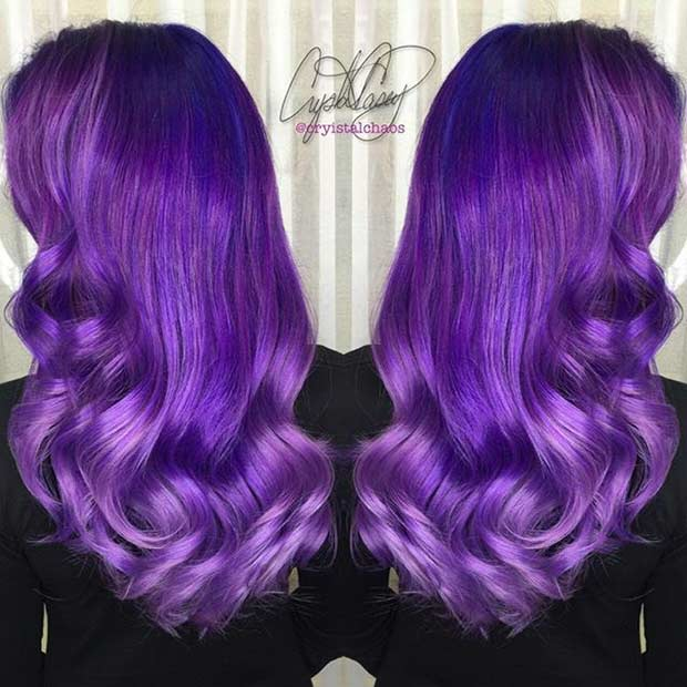 Таљен Purple and Lavender Hair Color Idea