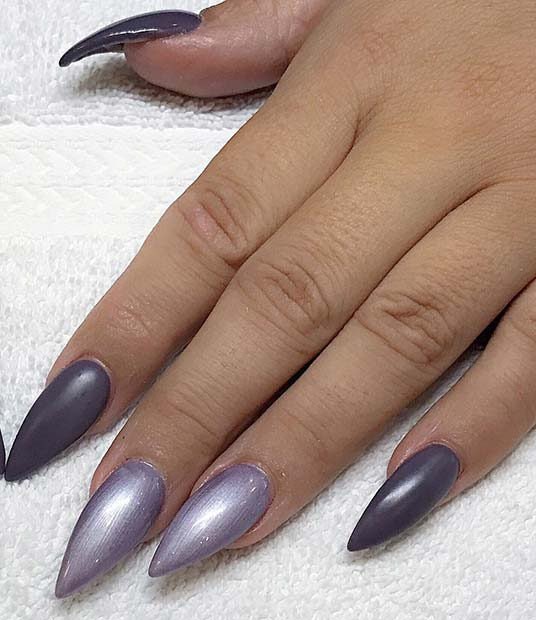 सरल Pointy Nail Design for Fall and Winter