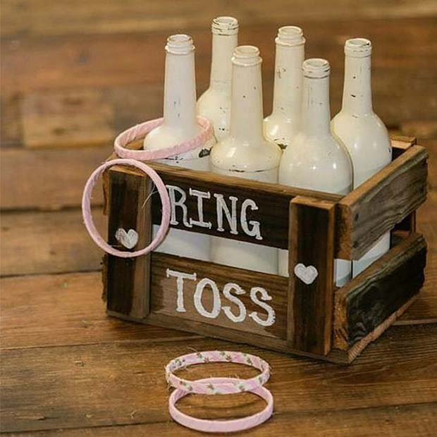 Inel Toss For Bridal Shower Game Idea