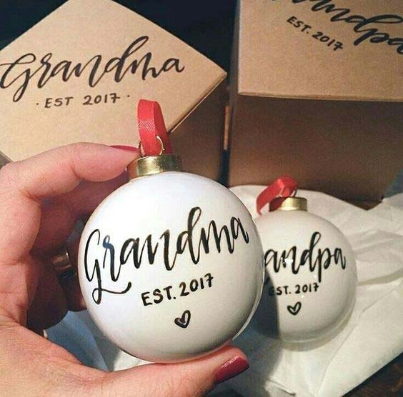 क्रिसमस Baubles for Grandparents