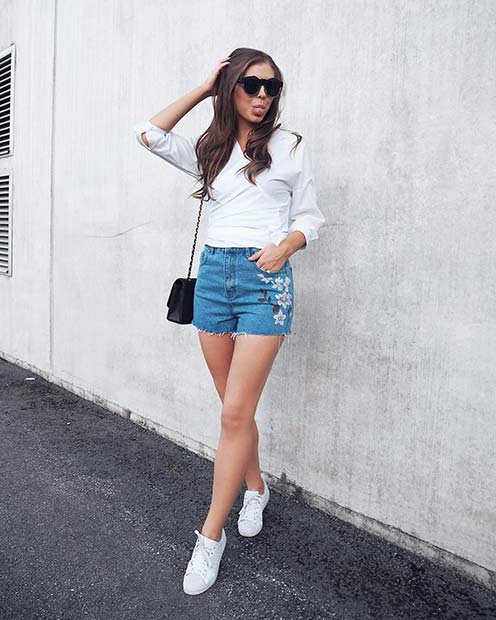 Везени Denim Shorts for Casual Summer Outfits