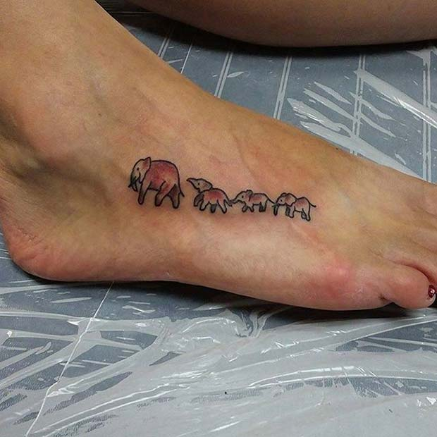 Слонови in a Line Tattoo for Elephant Tattoo Ideas