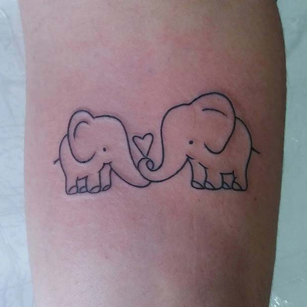 Слатко Heart Elephants for Elephant Tattoo Ideas